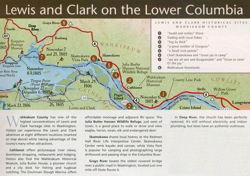 Lewis and Clark Trail on the Lower Columbia