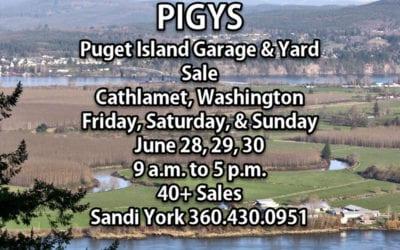 Puget Island Garage & Yard Sale 2019