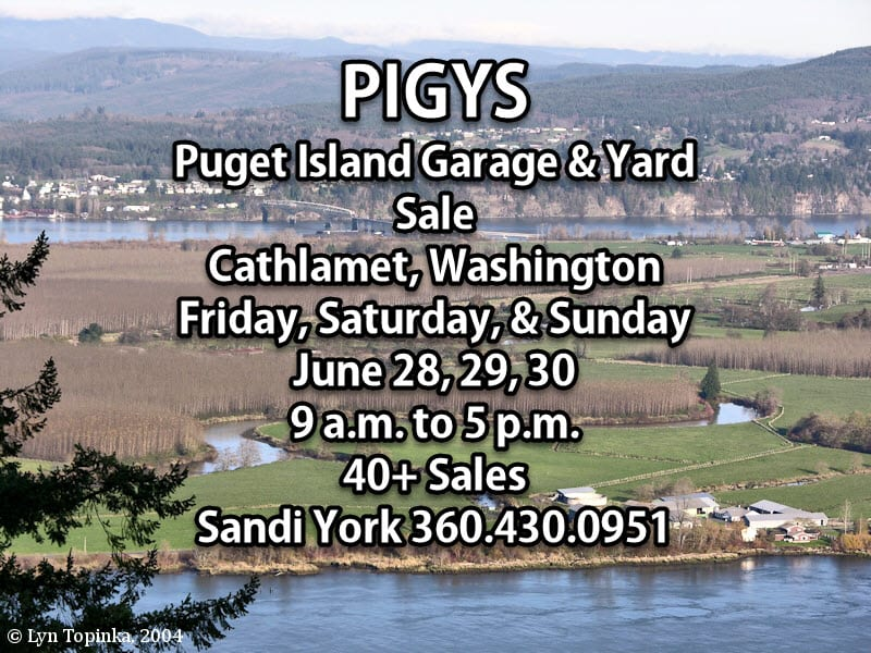 Puget Island Garage & Yard Sale 2019