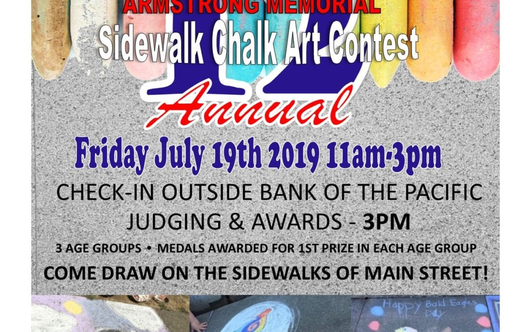 12th Annual Sidewalk Chalk Art Contest – Fri. July 19th