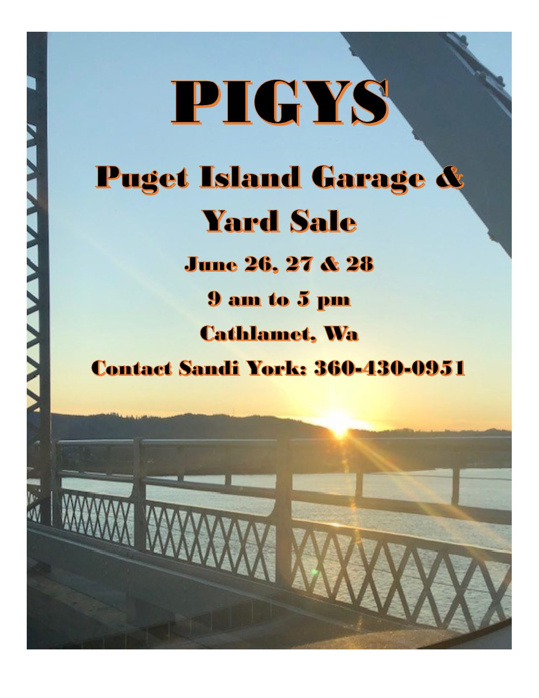 Puget Island Garage & Yard Sale 2020 – CANCELLED